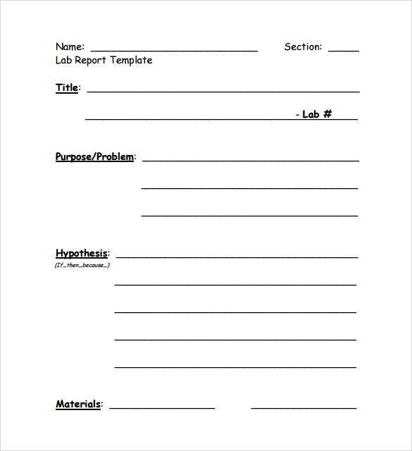 Microbiology lab report template
